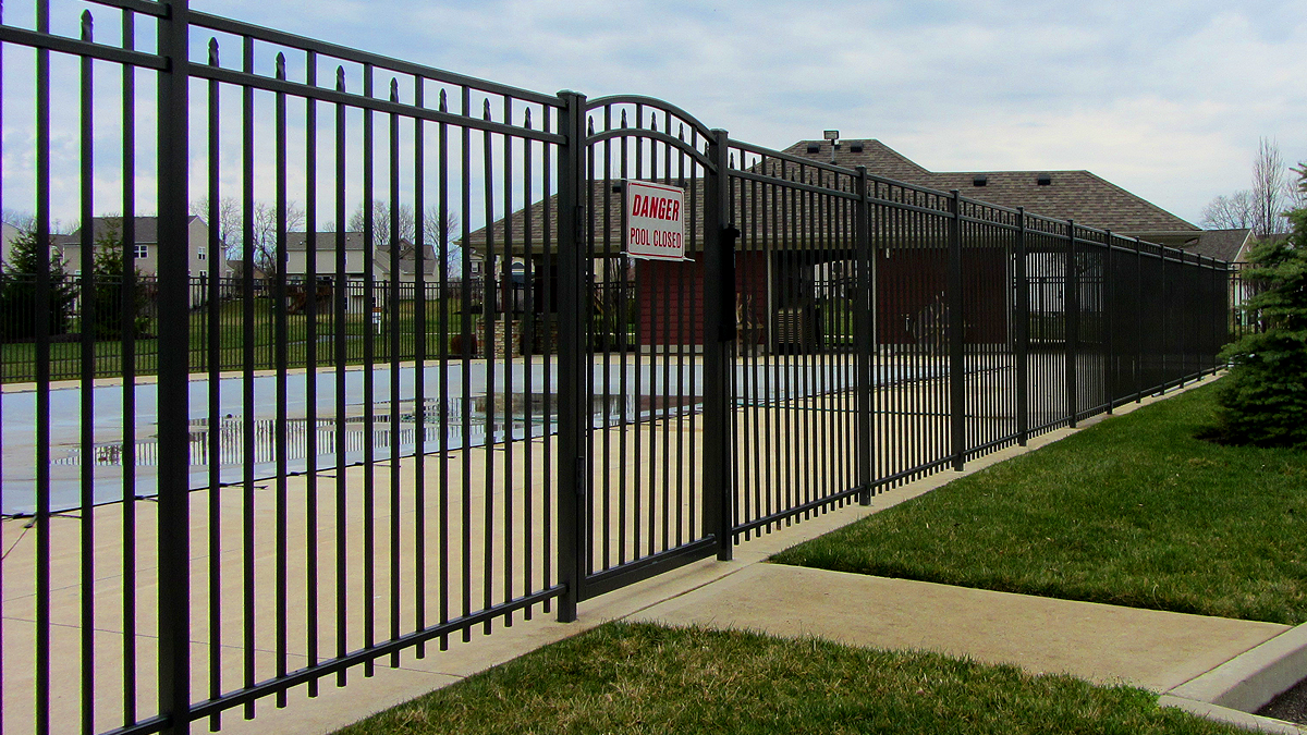 Aluminum fencing height options make it an ideal solution for securing your pool area