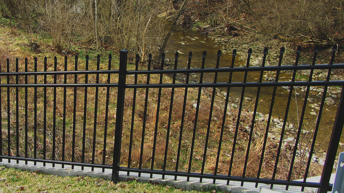 Aluminum fencing's strength and durability make it a perfect choice for safety.
