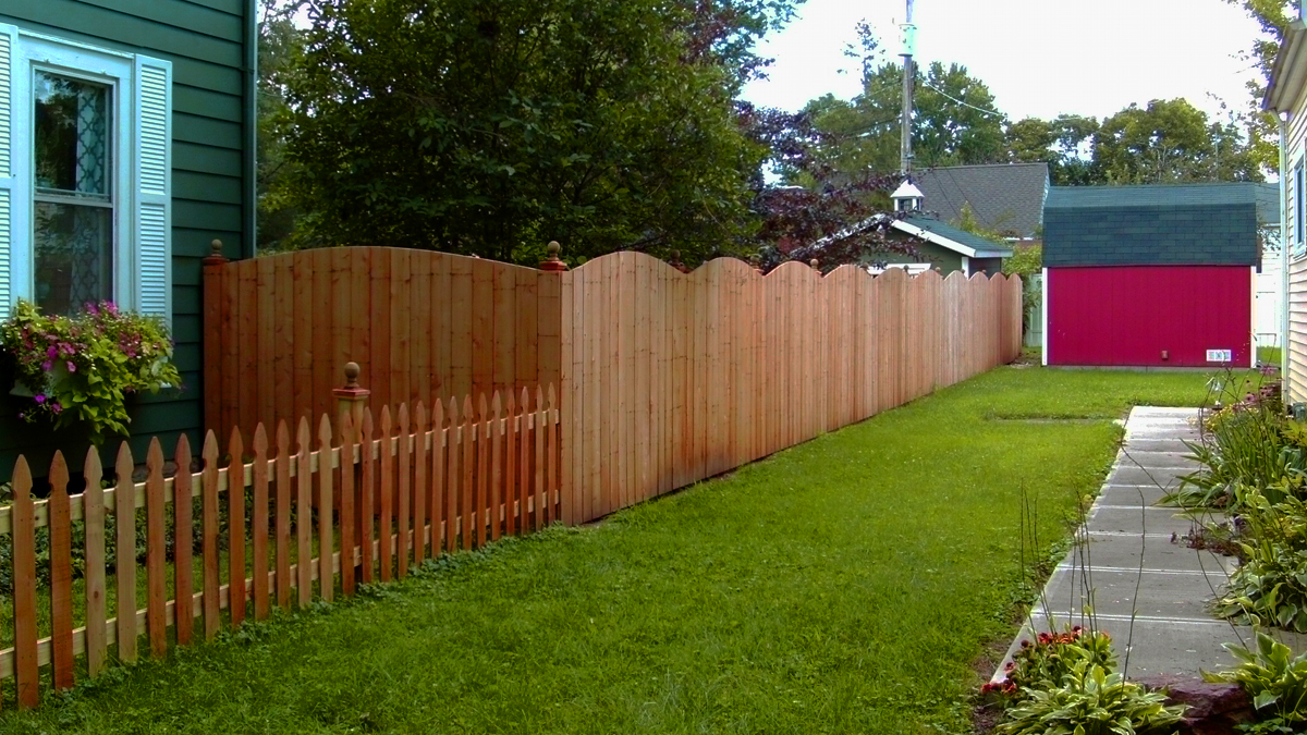 Enjoy the beauty and protection that a wood fence provides.