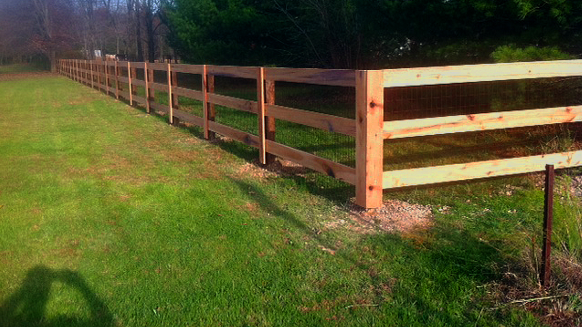 Ashlee Fence has a wood fence for any size enclosure.